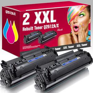 2 Toner für HP LaserJet 1010 1012 1015 1018 1020 1022 3015 3030 3050 Q2612A 12A