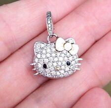 HELLO KITTY 18k White Gold and Diamond Pendant by Kimora Lee Simmons