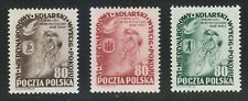 Poland 1953 MNH Mi 799-801 Sc 570-572 Peace Bicycle Race.Warsaw-Berlin-Prague **