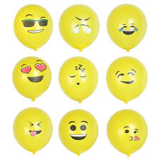 12pc Emoji Smiley Face Latex Balloons Birthday Party Supplies Decorations