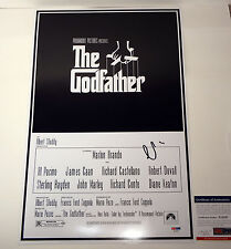 AL PACINO THE GODFATHER MICHAEL SIGNED AUTOGRAPH MOVIE POSTER PSA/DNA COA
