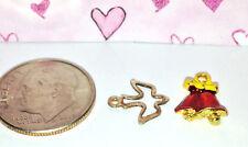 Dollhouse Miniature Ornaments - 8 Vintage Ornaments Doves and Bells 1:12