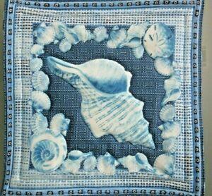 Pot Holder Sea Shell Beach Design Casserole Hot Mat, Hot Pad- Handmade Cotton