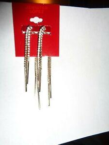 jennifer lopez faux diamond dangle earrings new
