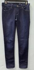 AG Adriano Goldschmied Stilt 25 Cigarette Slim Straight Jeans Dark Wash Mid Rise