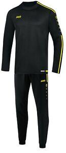 JAKO Trainingsanzug Jogginganzug Pullover Trainingshose schwarz/gelb 9218 8819