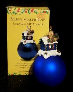 Muffy Vanderbear Reinbear Satin Glass Christmas Ball Ornament - Original Box
