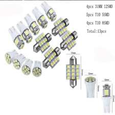 13pcs Car White Interior LED Lights Kit 31mm Festoon T10 5SMD 8SMD Kit Bright AU