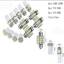 13pcs Car White Interior LED Lights Kit 31mm Festoon T10 5SMD 8SMD Kit Bright AU
