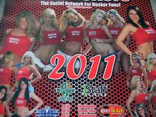 NEW NEBRASKA HUSKER HOTTIES POSTER 2011 FOOTBALL SCHEDULE MIDWEST GIRLS