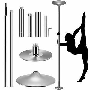 VIVOHOME 45mm Stainless Steel Static Dance Pole Dancing Spinning Home Fitness Us