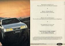 Publicité Advertising 1990  (double page)  Nouvelle FORD SIERRA  2.0  CLX