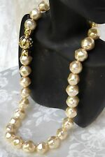 WEDDING SALE BAROQUE MAJORCA/MALLORCA PEARL NECKLACE CHAMPAGNE COL faux majorica