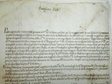 Antica lettera manoscritta 1614 Papa Paolo V Documento manoscritto Seicentina