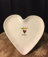 "Rae Dunn ""Amour"" Valentine's Heart Plate Pottery Artisan Collection"