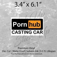 Pornhub Casting Car Bangbros Casting Funny Car bumper vinyl sticker decal Troll
