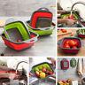 Collapsible Colander Fruit Vegetable Washing Drain Basket Folding Strainer
