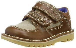 Kickers Kick Spacerise Leather Infant Tan/ Natural, Boys' Oxford Shoes