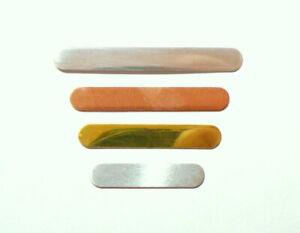 Long Bar Blanks jewellery making Copper Brass Aluminium Silver Stamping Bracelet