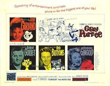 GAY PURR-EE Movie POSTER 27x40 B Judy Garland Robert Goulet Red Buttons Hermione
