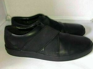 Clarks Men's Leather Black Shoes Boots Size 8/42 In Very Good Condition