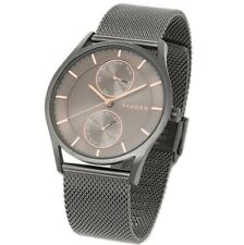 Skagen Watch * SKW6180 Holst Grey & Rose Gold Dial Grey Mesh Steel for Men
