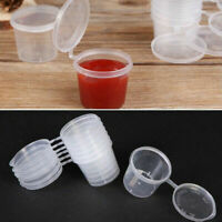 50Pcs Small Plastic Sauce Cups Takeaway Food Containers Pot Clear Boxes 25/40ML