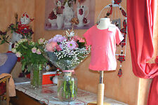 tee shirt repetto neuf rose sorbet avec petits brillants 2 ans+++