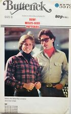"""Vintage 1970's  / 80's MENS SHIRT Sewing Pattern ~ Chest 36"""""""