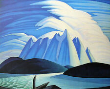 "Lawren Harris, Group of Seven  ""Lake and Mountains"" Large Print"