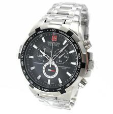 Swiss Military Hanowa 06-5272.04.007 caballeros reloj Chrono acero inoxidable plata negro