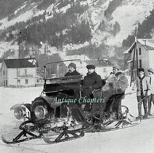 Chamonix Automobile Sleigh Lieutenant de la Besse 1911 Photo Article 9837