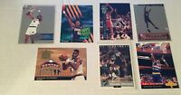 DIKEMBE MUTOMBO 5 CARD LOT  3 INSERTS CARDS +2 COLLEGE CARDS +FREE BONUS NUGGETS