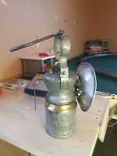 Wolf Dome Topped Underground Miners Safety Carbide Hand Lamp With Brass