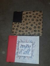 Lot Of 2 12x 12  Photo  ALBUMS HOLDS 50 PAGES OF 4X6 PHOTOS