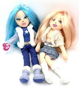 "Ty Beanie Girlz Plush Dolls Sassy Star Retired & Precious Paris 13"" Lot Of 2"
