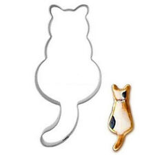 Stainless Steel Cookie Cutter Cat shadow Cake Biscuts Cutter Fondant DIY Mold ♫
