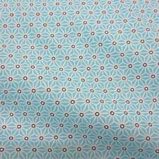 Stoff Baumwolle Japan Asanoha Grafik aqua weiß Retro gemustert Neu Meterware