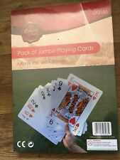 Jumbo playing cards extra large pack of 52 plastic coated playing cards deck.