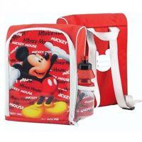 Mickey Mouse Lunch Bag Backpack Rucksack & Bottle Set Girl Boy Gift