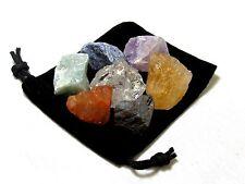 Rough 7 Chakra Seven Stones Set- Zentron Crystals Reiki Free Shipping