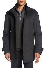 $695 BOSS Camlow Hugo Boss Wool Cashmere Vest/Bib Gray Car Pea Coat 48R New 310