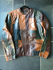 Paul Smith Ps multicolor Panel Chaqueta De Cuero Estilo Motero - TALLA L-42/52