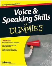 Voice and Speaking Skills For Dummies, Apps, Judy, Good Condition, Book
