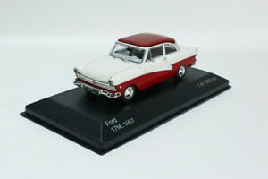 Ford Taunus 17m (P2), white/dark red, 1957, model cars 1/43