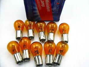 (10) Wagner 2057NA Amber Parking Turn Signal Lamp Light Bulb