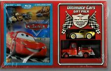 Disney Pixar Cars Gift Pack Ransburg Paint Mater Mcqueen Blu-Ray Sealed Mint