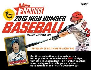 2016 Topps Heritage High Number Complete Your Set Pick 25 Cards From List
