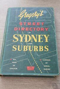 Vintage 1957 Gregorys Street Directory SYDNEY 23rd Edition (pre decimal) AMPOL