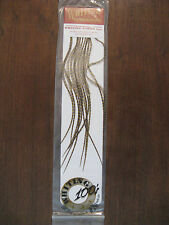 Fly Tying Whiting 100's Saddle Hackle Grizzly dyed Golden Olive- sz#20